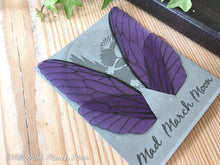 Fairy wings for craft, Large size, Violet Rain