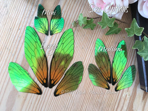 Absinthe Fairy wing set for crafts Medium Size