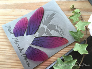 Fairy wings for crafts 'Very Berry' Medium