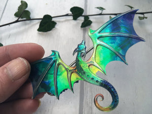 Dragon Brooch, choose from 10 colours