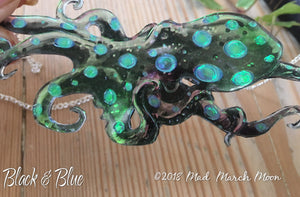 Octopus Necklace Blue Black