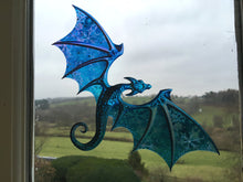 Limited Edition Dragon Suncatcher 'Snow Storm'