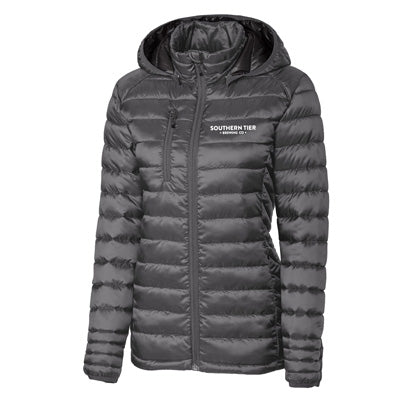 Southern Tier Ladies Puffy Jacket - Grey