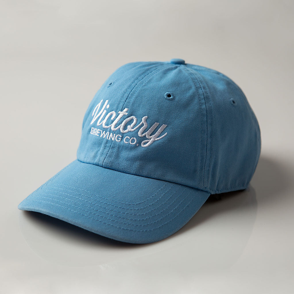 Victory Script Dad Hat | Columbia Blue