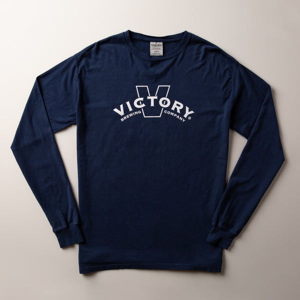 Victory Banner Long-Sleeve Tee | Navy