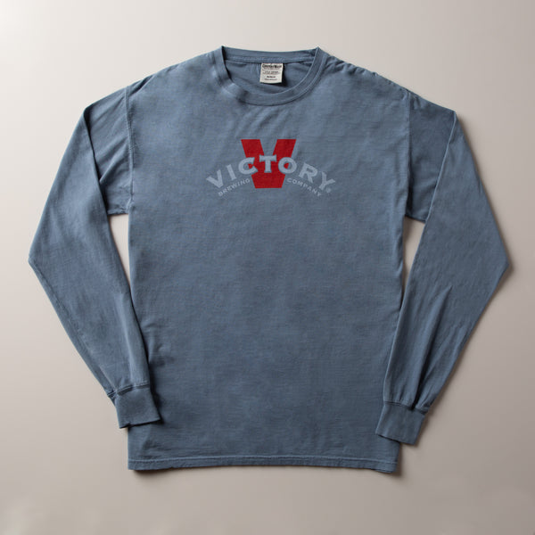 Victory Banner Long-Sleeve Tee | Saltwater Blue