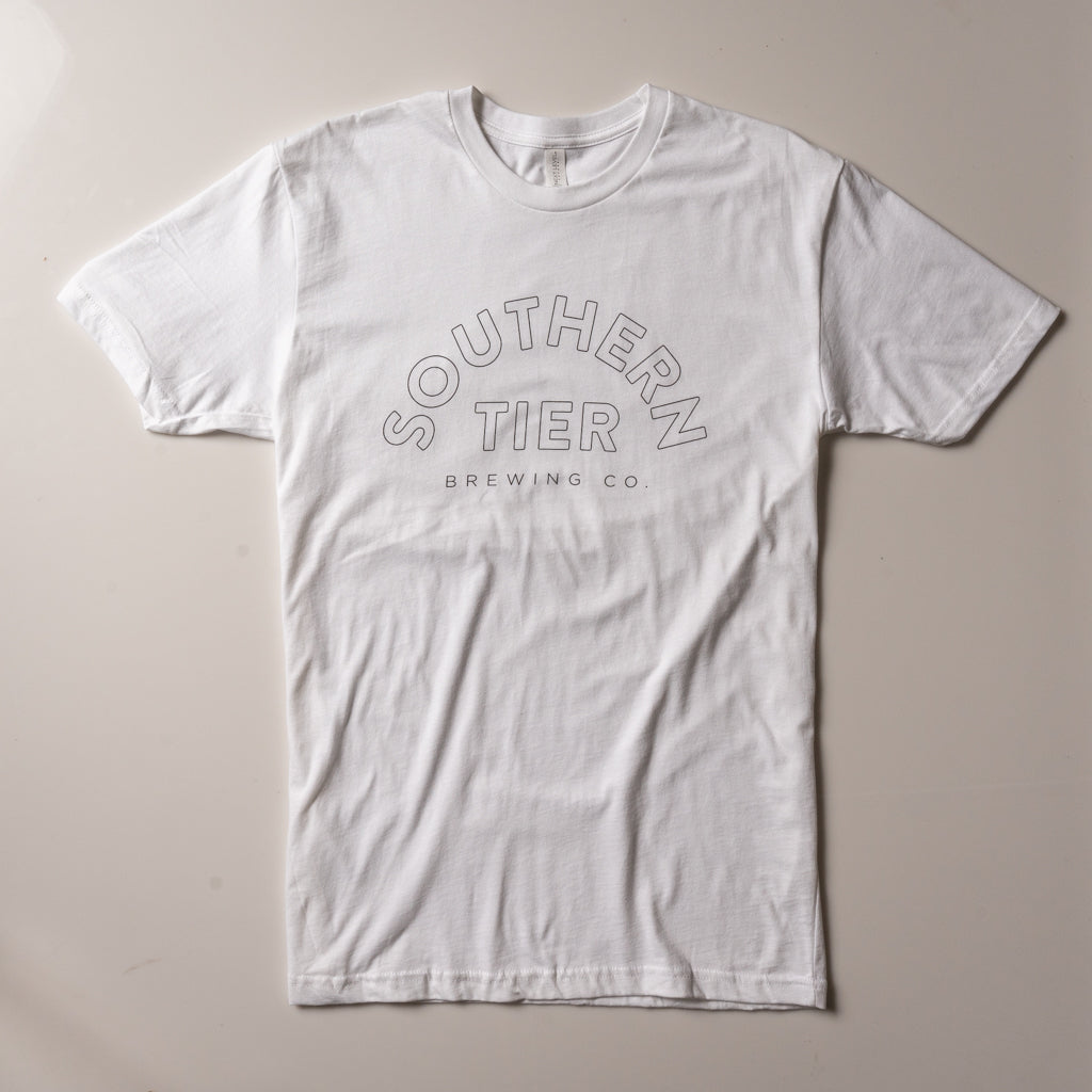 Southern Tier Outline Tee | White