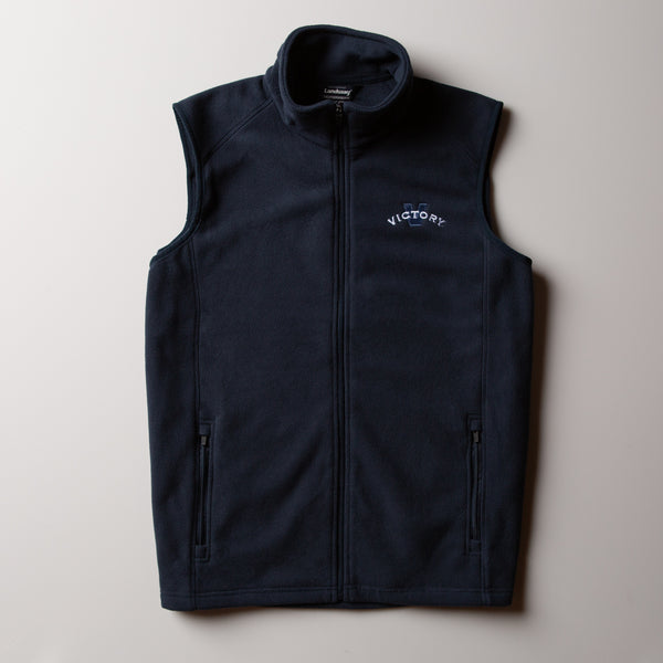 Victory Fleece Vest | Navy