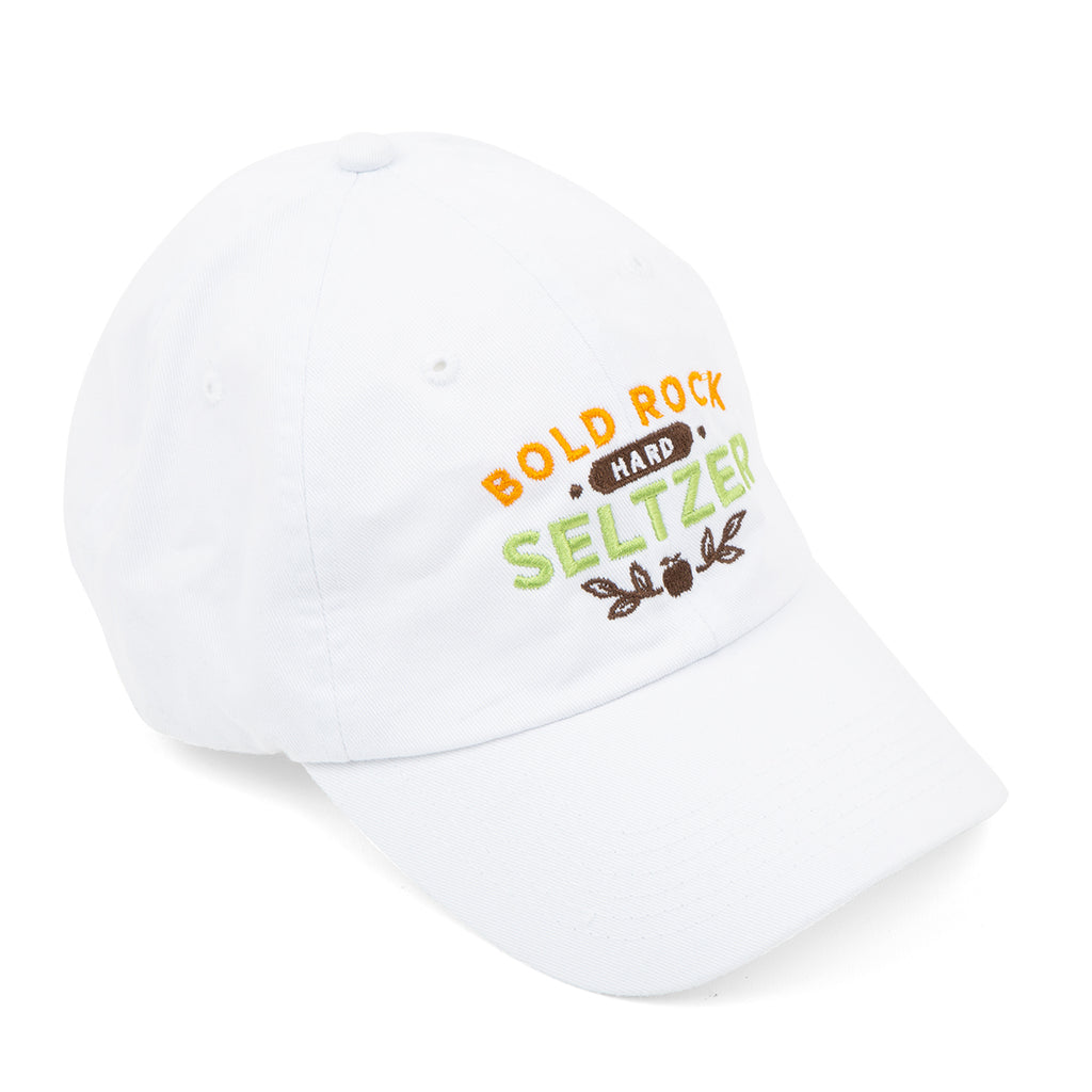 Bold Rock Hard Seltzer Dad Cap | White