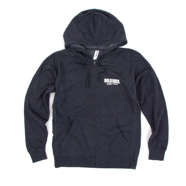 Navy Zip Hoodie - Make it Happen - Front