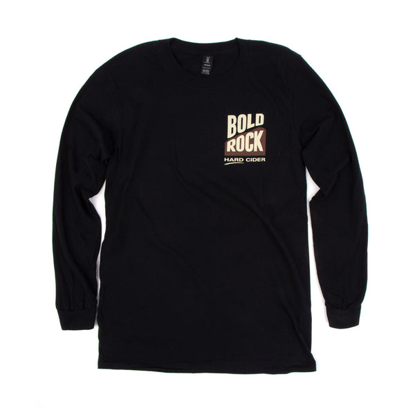 Bold Rock Diamond Long-Sleeve Tee | Black