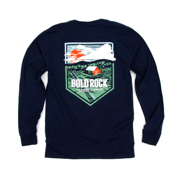 Bold Rock Farm Long-Sleeve Tee | Navy