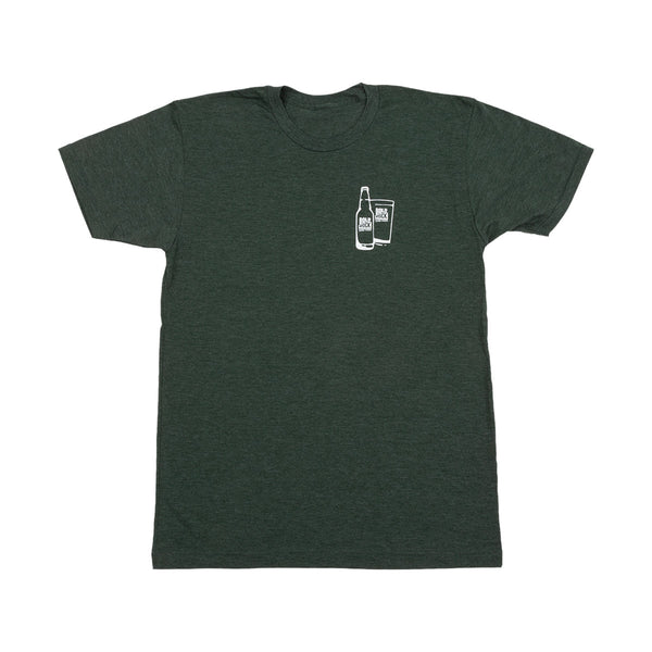 Bold Rock Bottle Glass Tee | Green