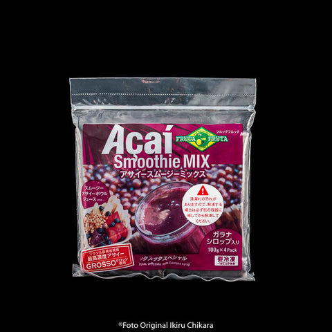 Polpa de Açaí Smoothie Mix com Guaraná 100gx4
