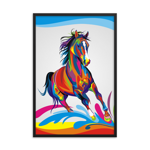 Tableau cheval coloré Grand format