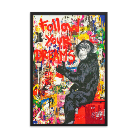 Tableau Déco Singe Pop Art Follow your Dream