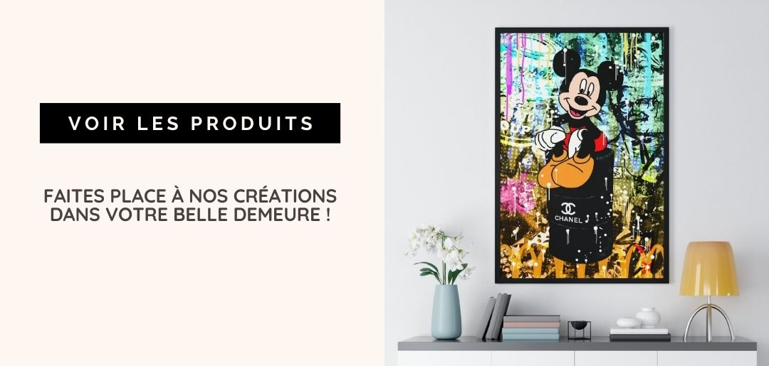 tableau chanel mickey mouse