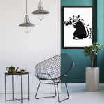 Tableau street art banksy rat photographe