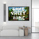 Tableau banksy (Home Sweet Home)