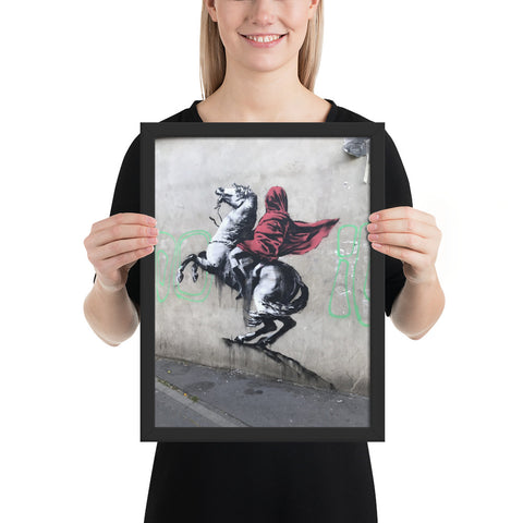 tableau photo banksy le cavalier
