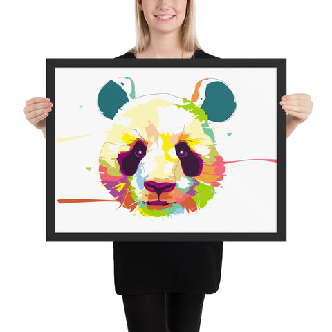 Tableau Panda Pop Art Design