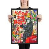 Tableau singe pop art follow dream