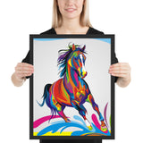 Tableau Cheval Pop Art Design