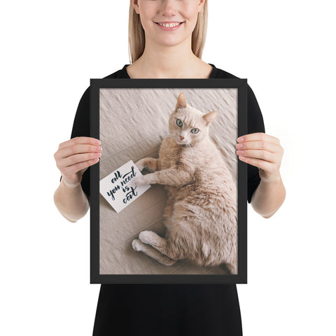 Tableau Chat Original moderne