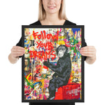 Tableau singe follow your dream pop art