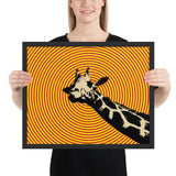 Tableau Girafe Coloré (Orange)