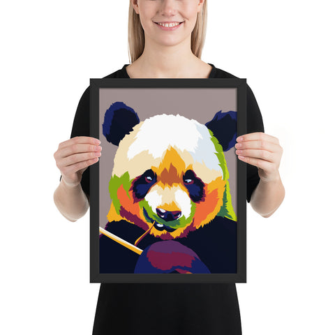 Tableau Panda Multicolore Pop Art