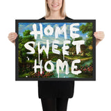 Tableau street art banksy (Home Sweet Home)