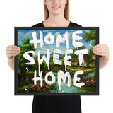 Tableau street art (Home Sweet Home) banksy