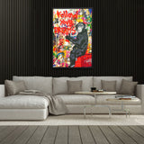 Tableau singe pop art follow your dream