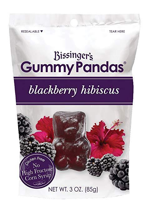 Gummy Pandas, Blackberry Hibiscus, 3 Ounce Bag, Pack of 12