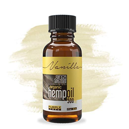 Hemp Oil Extract | Pain, Anxiety & Stress Relief | Anti-Inflammatory & Joint Support | Vanilla 500mg