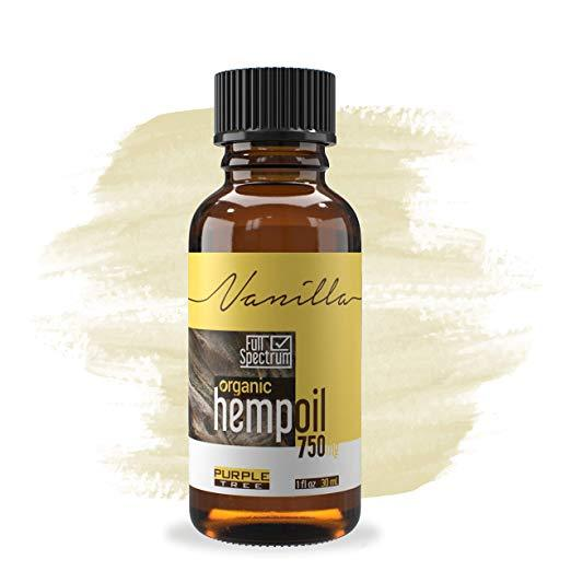 Hemp Oil Extract | Pain, Anxiety & Stress Relief | Anti-Inflammatory & Joint Support |Vanilla 750mg