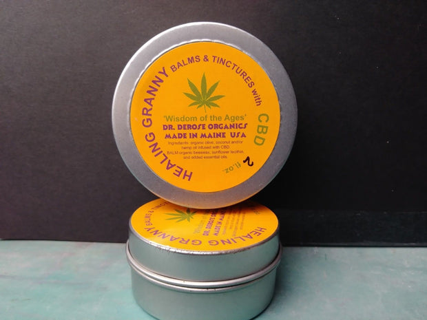 1 oz tin  100 mg CBD from Hemp Balm Pain Salve Ointment