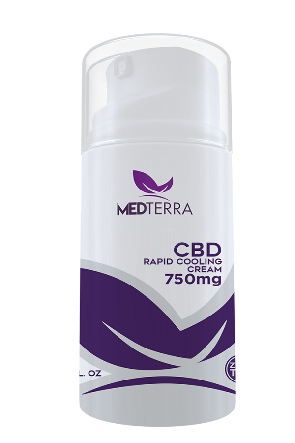 MEDTERRA CBD Topical Rapid Cooling Cream 250MG