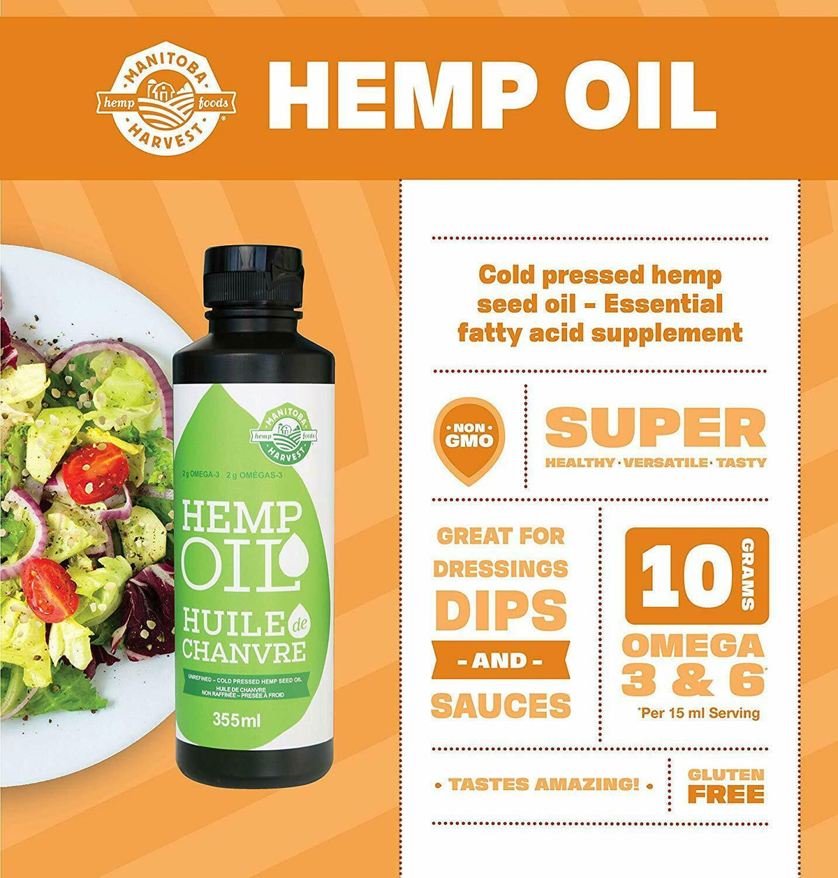 Pure Organic Hemp Oil 500 Mg Pain Relief CBD Weed Anxiety Sleep Pain Aid