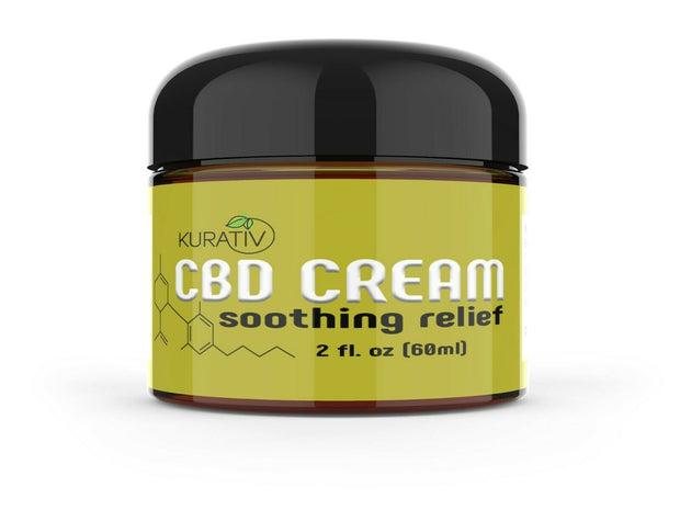 Kurativ Premium CBD Cream - Soothing Pain Relief Formula - 500 mg - Topical Rub