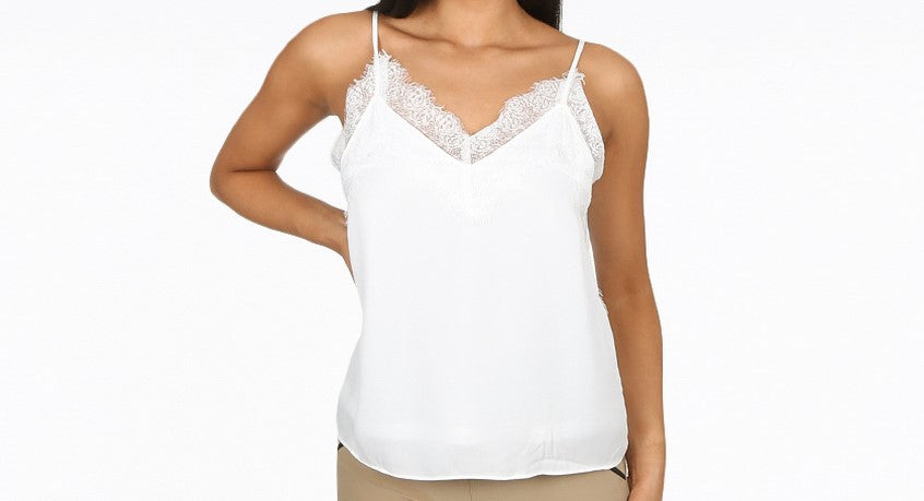 Lace White Cami Top