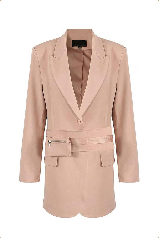 Bombshell Blazer Dress Pink