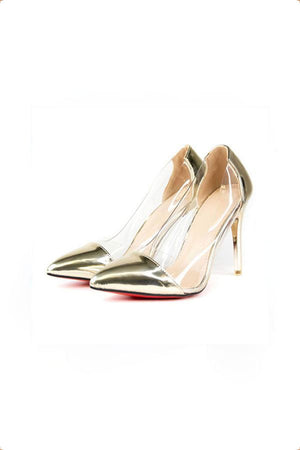 Rossi Gold and Perspex Heels