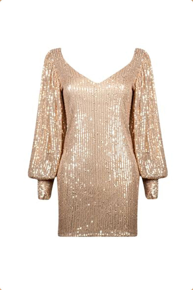 New Year, New Me Dress - Champagne