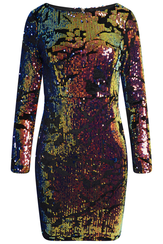 Load image into Gallery viewer, Chic Sequin Dress