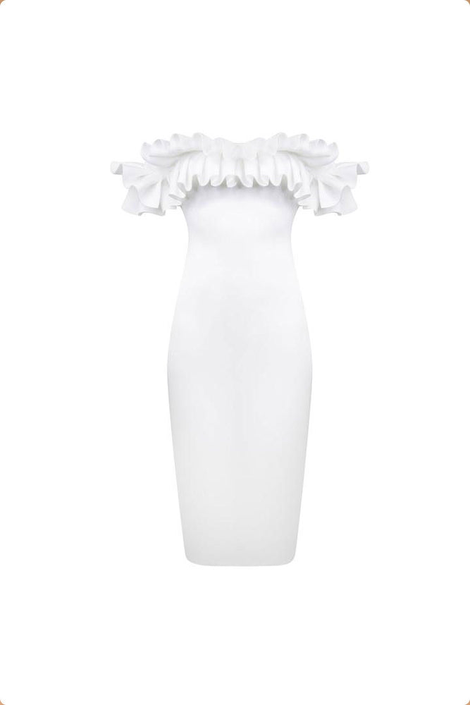 Alice White Frill Pencil Dress