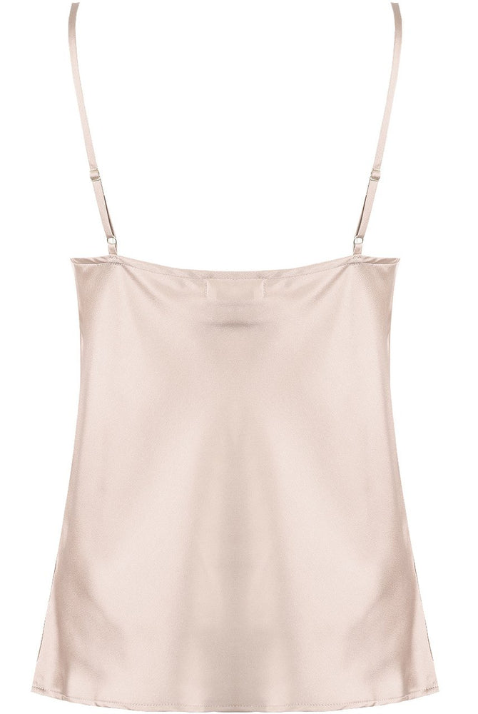 Amber Slinky Vest Top Champagne