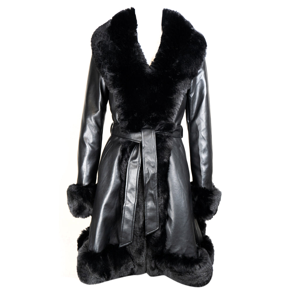 Load image into Gallery viewer, Ava Black Belted Coat