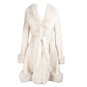 Load image into Gallery viewer, Ava Cream Belted Coat